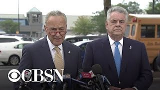 Chuck Schumer and Peter King call on Congress to pass background check legislation