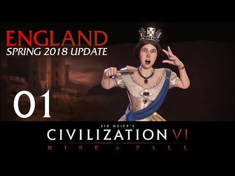 Civilization 6 | Deity England Let's Play | Spring 2018 Update - Episode 1 [Early Aggression]