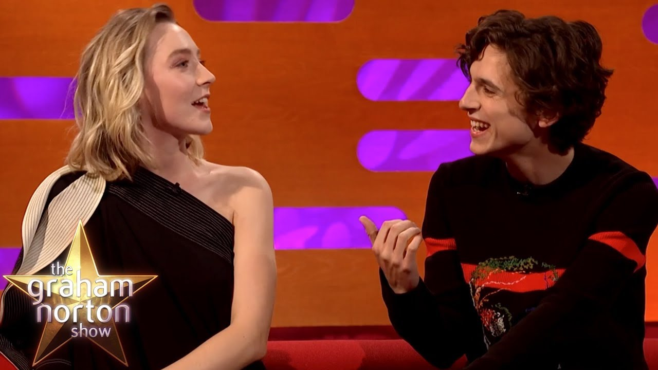 Saoirse Ronan & Timothée Chalamet Joke About Pronouncing 'Timothée Chalamet'