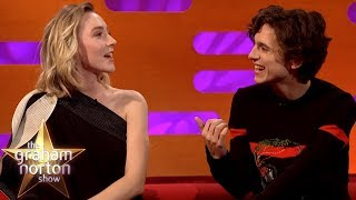 Saoirse Ronan & Timothée Chalamet Joke About Pronouncing