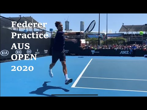federer practice at the AO 2020 today