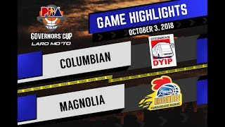 PBA Governors' Cup 2018 Highlights: Columbian vs Magnolia Oct 3, 2018