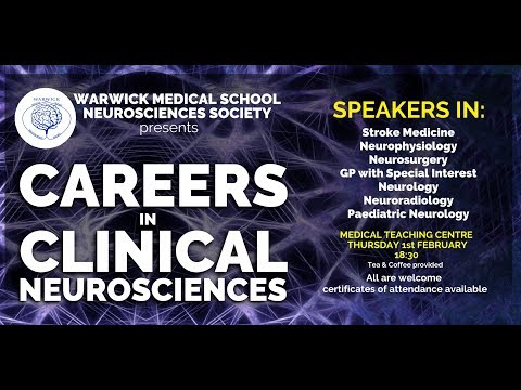 WMS Neurosciences Society Clinical Careers Evening! - Open To All!