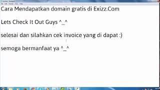 Cara Dapat Domain .Com Gratis Selamanya - Exizz.com