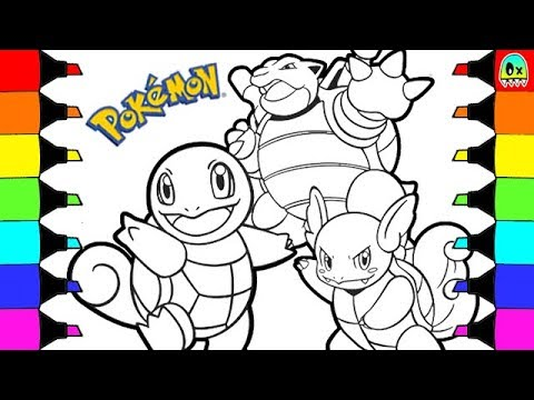 Coloring Pages Pokemon Squirtle evolution colouring book fun for ...