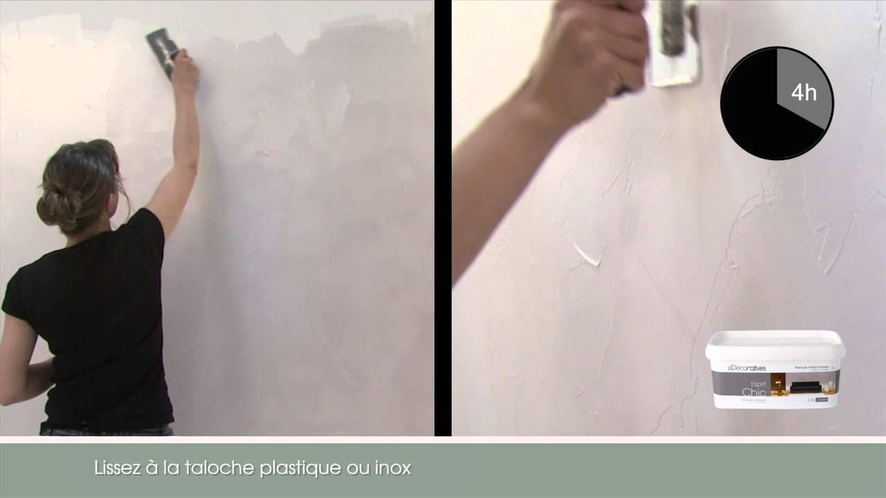Esprit chic perles de verre youtube for Peinture murale nacree