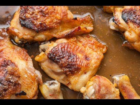 Как пожарить куриные бедра в духовке