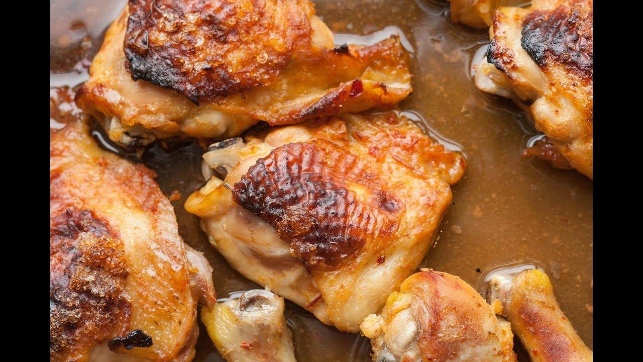 КУРИНЫЕ БЁДРА в духовке с хрустящей корочкой | пошаговый рецепт
