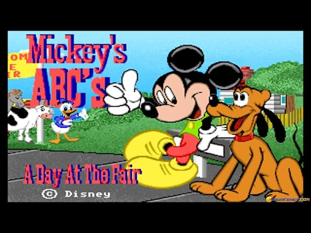 Mickey S Abc S A Day At The Fair Gameplay Pc Game 1992 Youtube