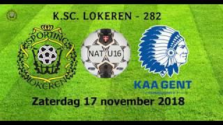 Nat. Elite U16 - Sporting Lokeren - KAA Gent