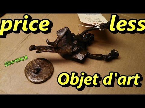 Dino repair cracked priceless bronze statue