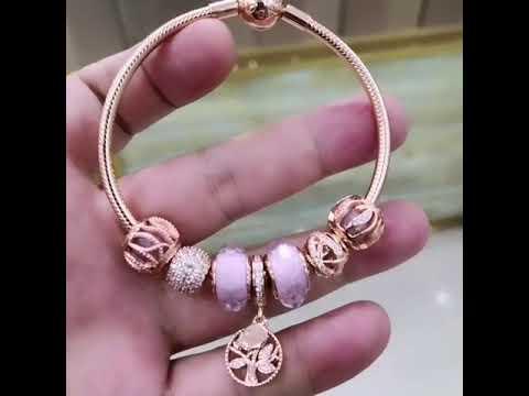 ce1b534d5 New pandora rose gold family tree pink charm bracelet incharmbracelet in  charmsilvers.com