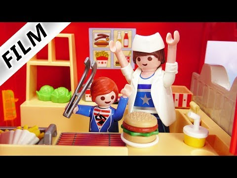 Playmobil Film Deutsch - JULIANS BURGER LADEN! KONKURRENZ FÜR MCDONALD