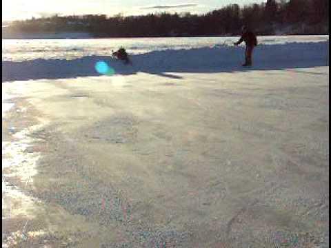 Ice Skating on Jewel Lake 1-9-2010