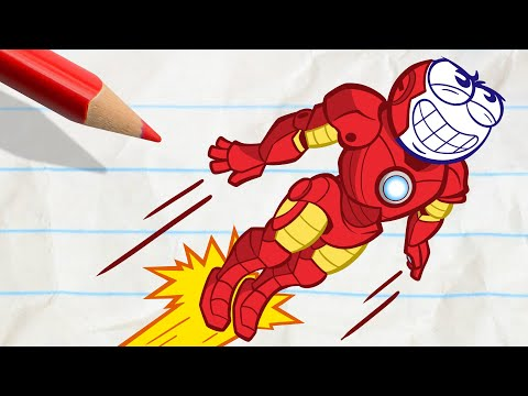Pencilmate's Crazy Transformation - Pencilmation Cartoons for Kids