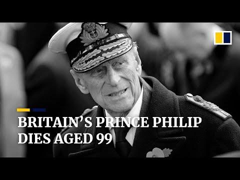 Prince Philip, husband of Britain's Queen Elizabeth, dies at age 99