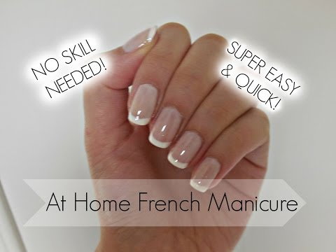 Monday Manicure Easy DIY French On Natural Nails