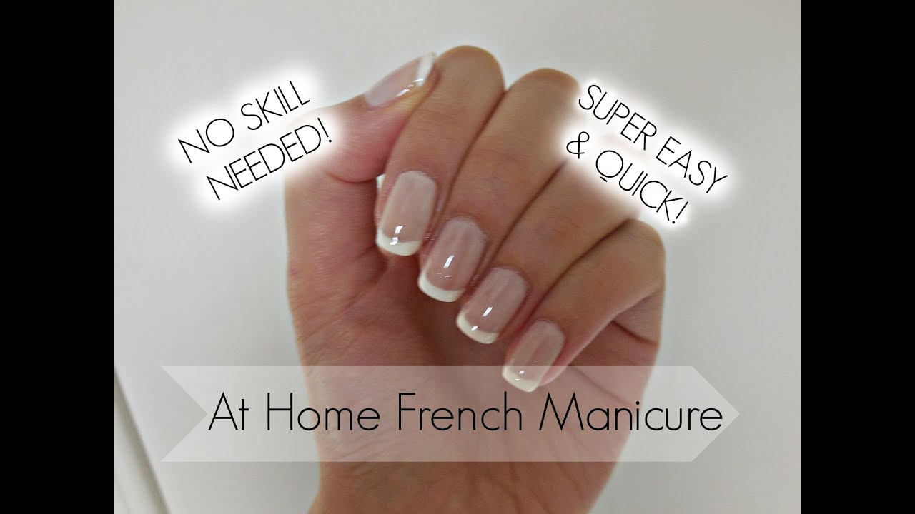 Easiest French Manicure Tutorial EVER! - YouTube
