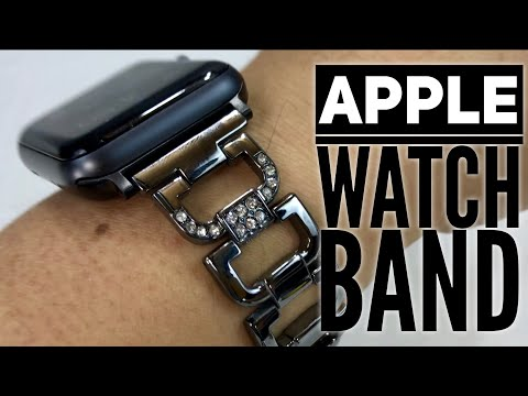 Bling Stainless Steel Apple Watch Bracelet with Rhinestones by Sunkong Review
