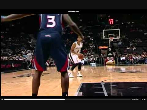Eddy Curry For the PUTBACK Dunk ! Spurs vs Rockets - 10-10-12