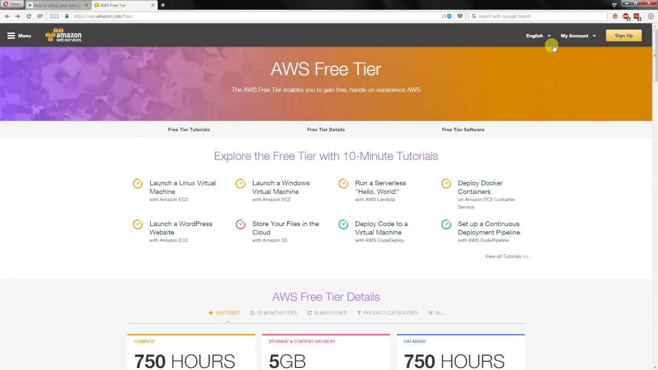 Create a free VPN (using 12 month trial) on AWS in two minutes