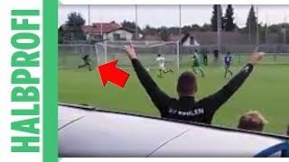 Irre Landesliga: Zuschauer verhindert Gegentor - Flitzer mal anders