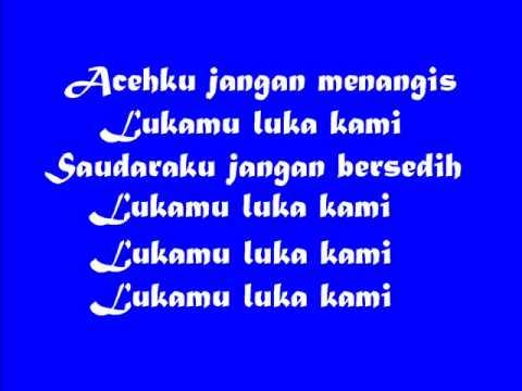 Punk Rock Acehku Jangan Menangis Lirik