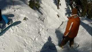 Alpine Meadows Gopro Hot Wheels Gully Compilation Helmet Mount Backward & Forward 3-4-12 Hd 720p