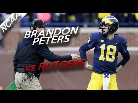 Brandon Peters Highlights vs Rutgers // 10/14 124 Yards, 1 TD // 10.28.17