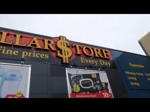 Shoppar på Dollarstore Varberg