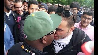 MUSLIMS BREAK UP FIGHT AND PROTECT RACIST ANTI MUSLIM | ABDUL HAMID INTERVENES | SPEAKERS CORNER