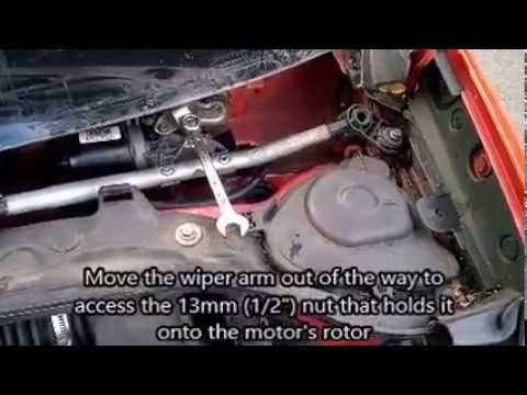 Clio MK3 (2007 RHD) Wiper Motor works on fast only fix - YouTube
