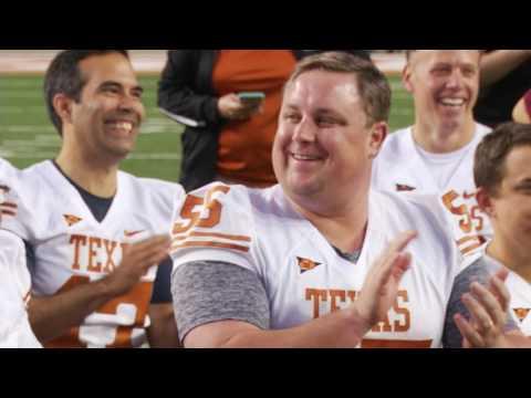 Tom Herman at Texas House flag football [Feb. 2, 2017]