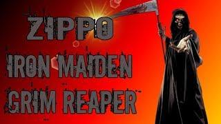 Зажигалка Zippo  Iron Maiden Grim Reaper. Обзор.