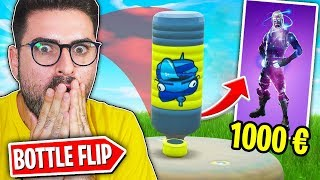 SFIDA BOTTLE FLIP ON FORTNITE AVEC S7ORMY!! LE LOSER GIVES A SKIN!