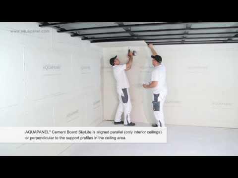 Installation of knauf aquapanel® cement board skylite youtube
