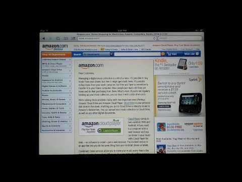 Amazon Cloud Drive / Cloud Player on the iPad / iPad 2 / iPhone / iPod Touch HD