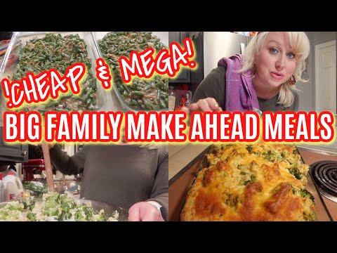 BUDGET LARGE FAMILY MAKE AHEAD MEALS FOR THE HOLIDAYS | Feeding a Crowd & FREEZER FRIENDLY!