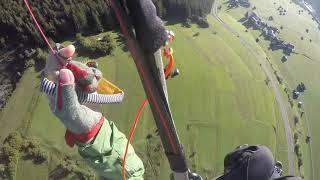 Paragliding in Pettneu am Arlberg, Tyrol, Austria