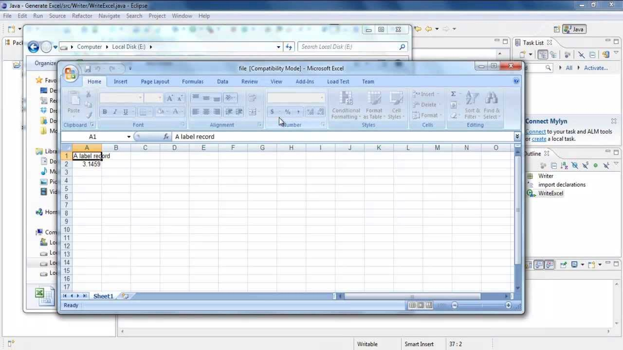 How to Generate Excel in Java