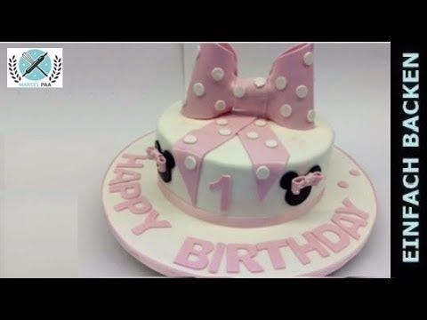 Rosa Minnie Mouse Schleifen Motiv Torte Cake Youtube