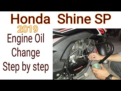 Honda Shine SP Engine oil change step by step| Helping Biker