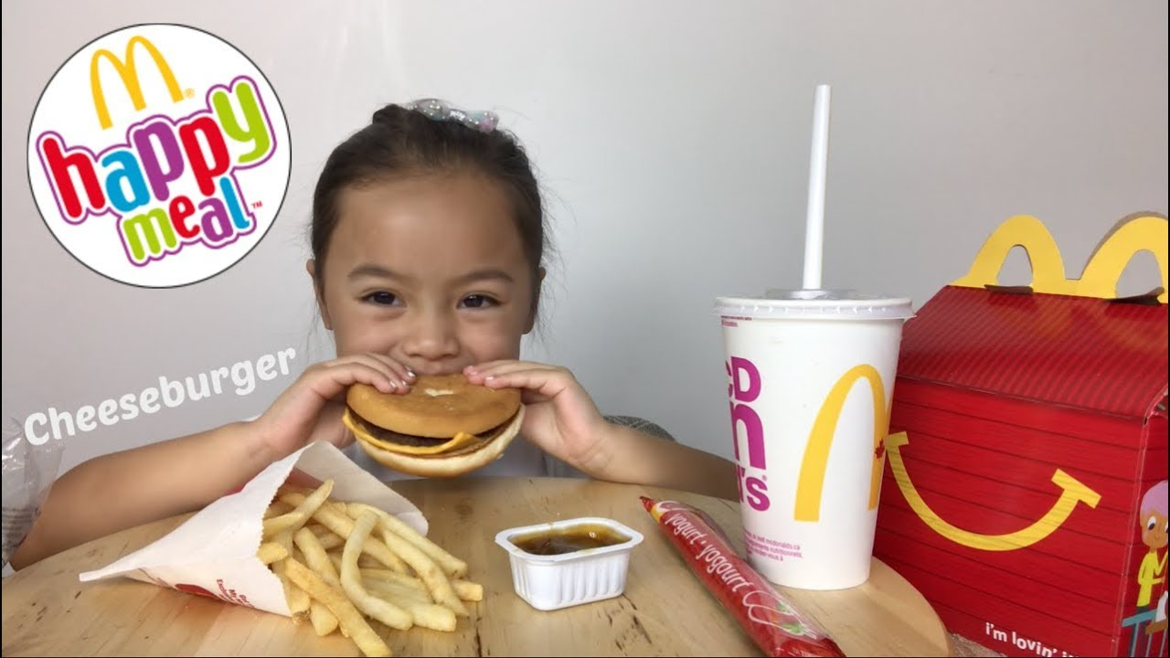 Mcdonalds Cheeseburger Happy Meal Mukbang N E Lets Eat