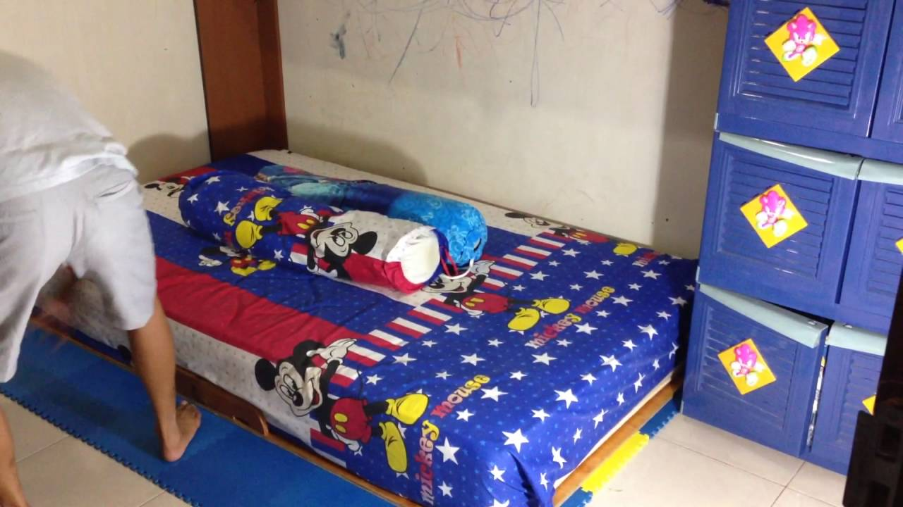 Low Cost Amp Simple Murphy Bed For Small Children Room Youtube