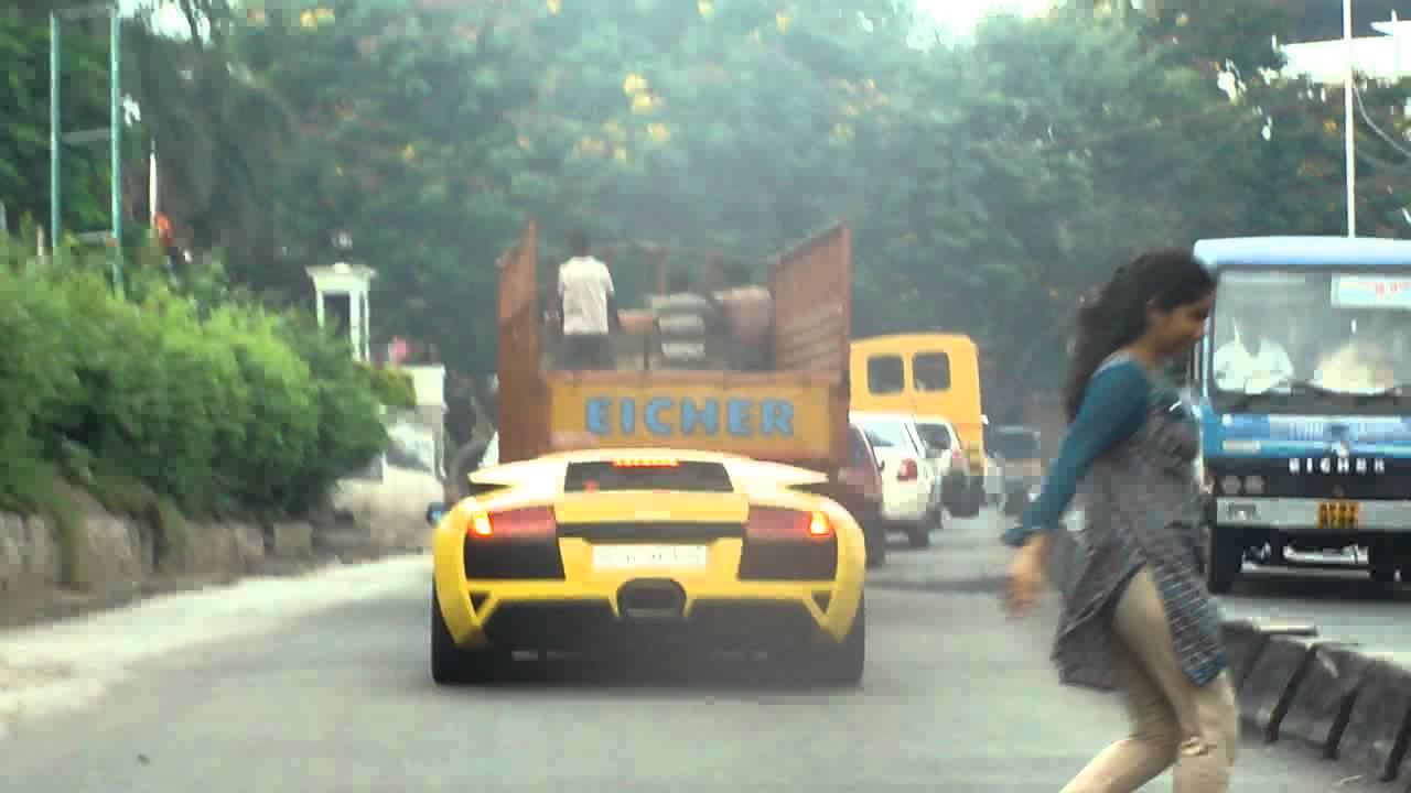Lamborghini Murcielago Spotted In Hyderabad India Youtube