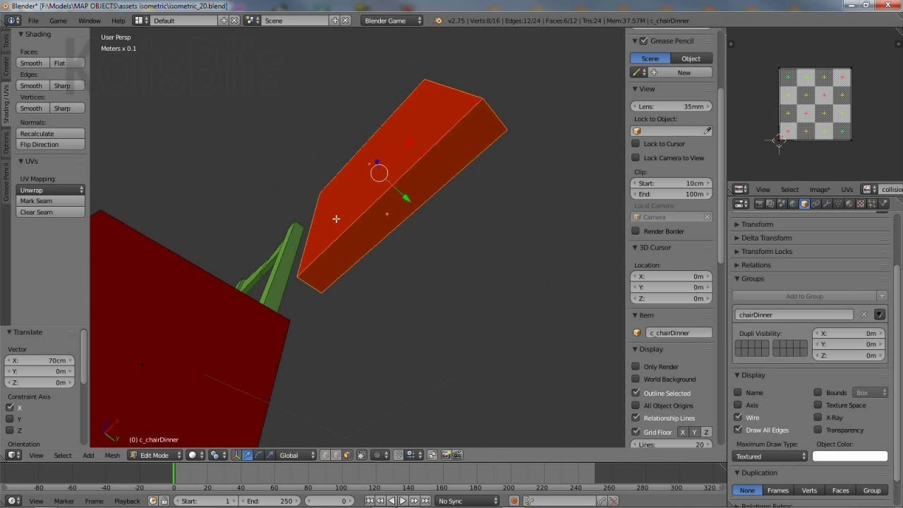 Exporting Unity Game mesh with Collision from Blender