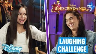 Descendants 3 | Try Not To Laugh Challenge With Sofia Carson & Booboo Stewart 😂 | Disney Channel UK