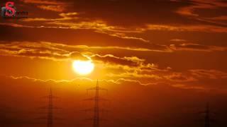 Sonnenuntergang im Zeitraffer