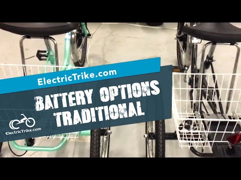 Sun Traditional Electric Trike Battery Options
