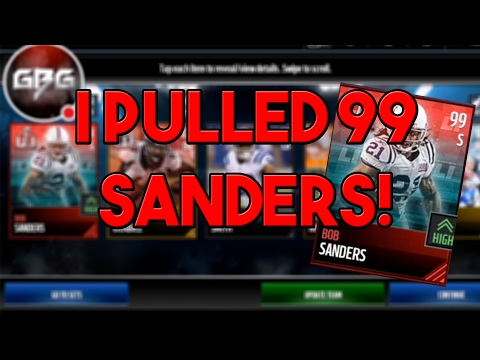 I PULLED 99 BOB SANDERS ON STREAM! THE MM PACK KING IS BACK! Madden Mobile 17!